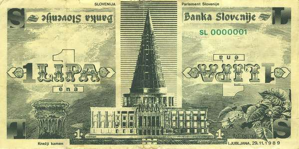 Fig. 3: Alternative Slovenian currency Lipa (1989)