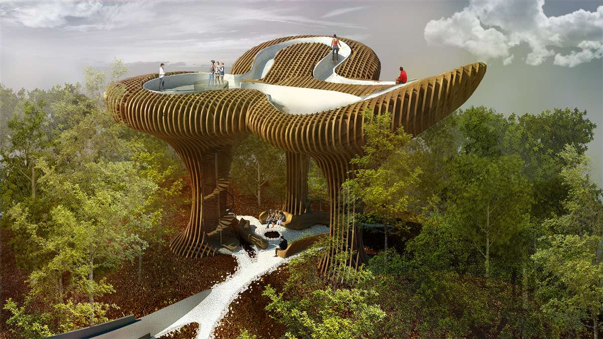 nature architecture building abstract shape form outlook designed future